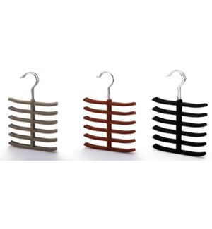 3PC  Velvet Tie Hanger  ( 12 Set )