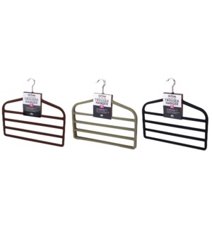 3PC  Velvet Trouser Hanger  ( 12 Set )