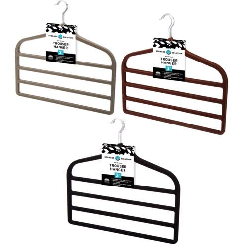 3Pc  Velvet Trouser Hanger  ( 12 Set ) 3 Colors Assorted