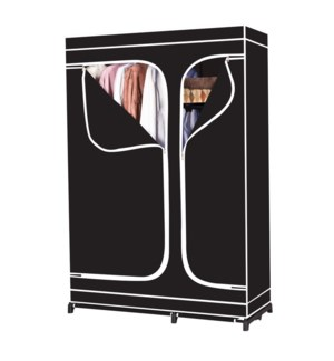 """Black - Deluxe 42.5"""" Wardrobe with 4 Shelves (4)"""