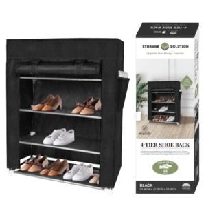 Black - 4 Tier Shoe Rack ( 6 )