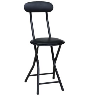 Black - Folding Stool with Back (6)