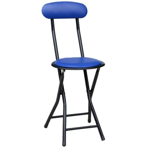 Blue - Folding Stool w/back (6)