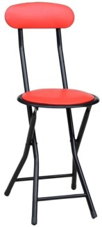Red - Folding Stool w/back (6)