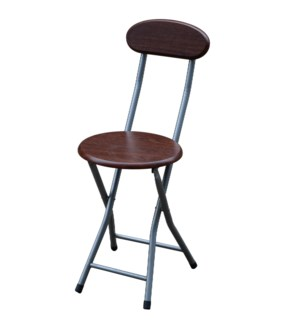 Espresso - Wooden Folding Stool with Back ( 6 )