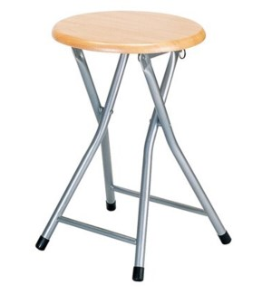 Natural - Wooden Folding Stool witout Back (10)