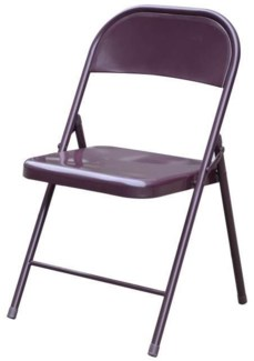 Brown - Metal Folding Chair (6)