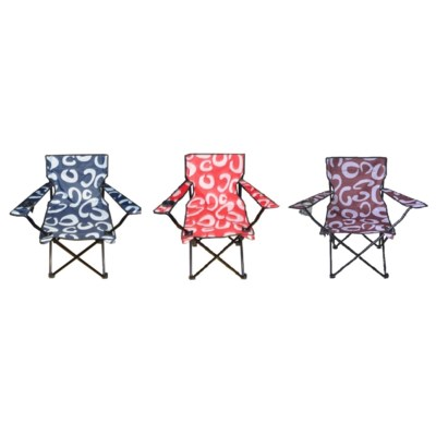 Designed Large Armrest Camping Chair ( 6 ) 3 Colors Assorted