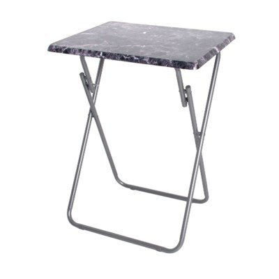19-inch Black Marble Snack table (6)