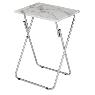 19-inch Grey Marble Snack table (6)