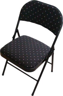 Black - Folding Fabric Cushion Chair (6)