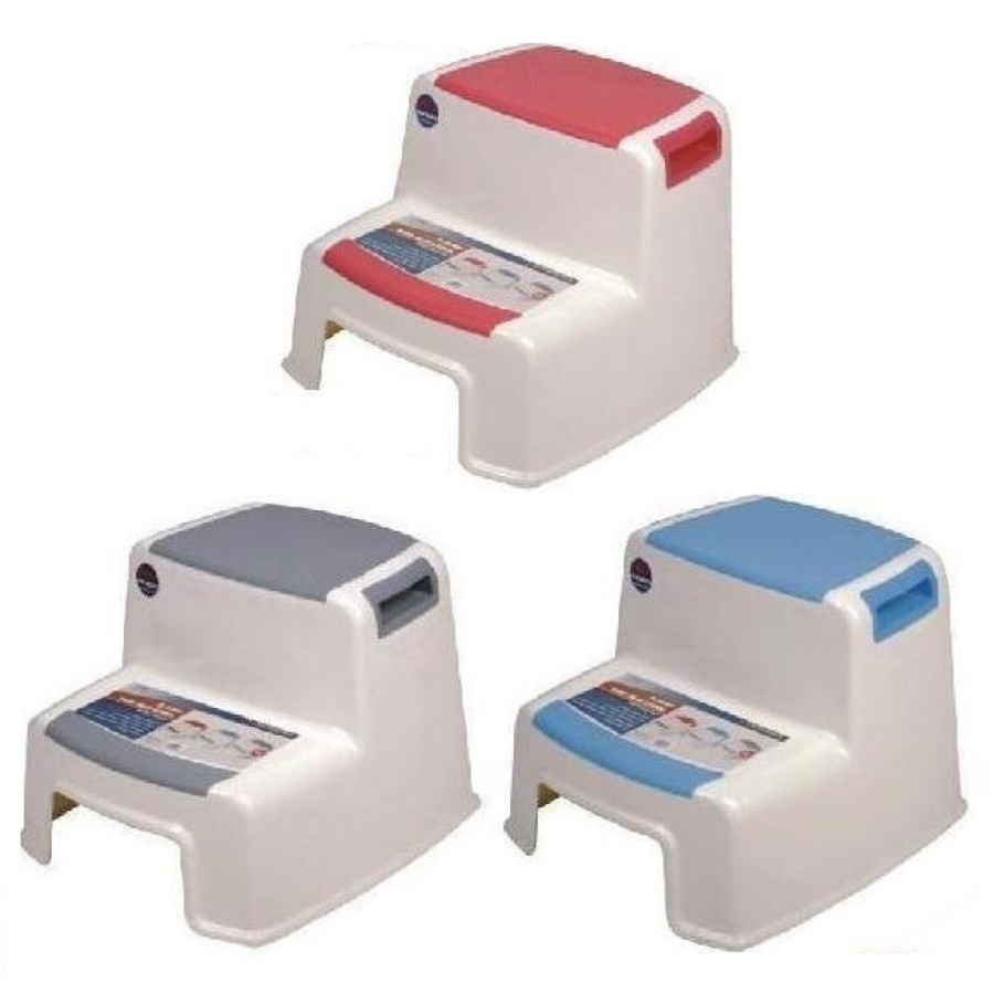 2 Step Stool ( 12 ) 3 Colors Assorted