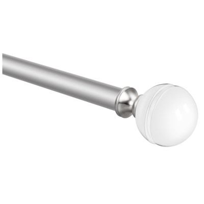 "Stanton Design 36-72"" Silver Curtain Rod with Acrylic Finial (4)"