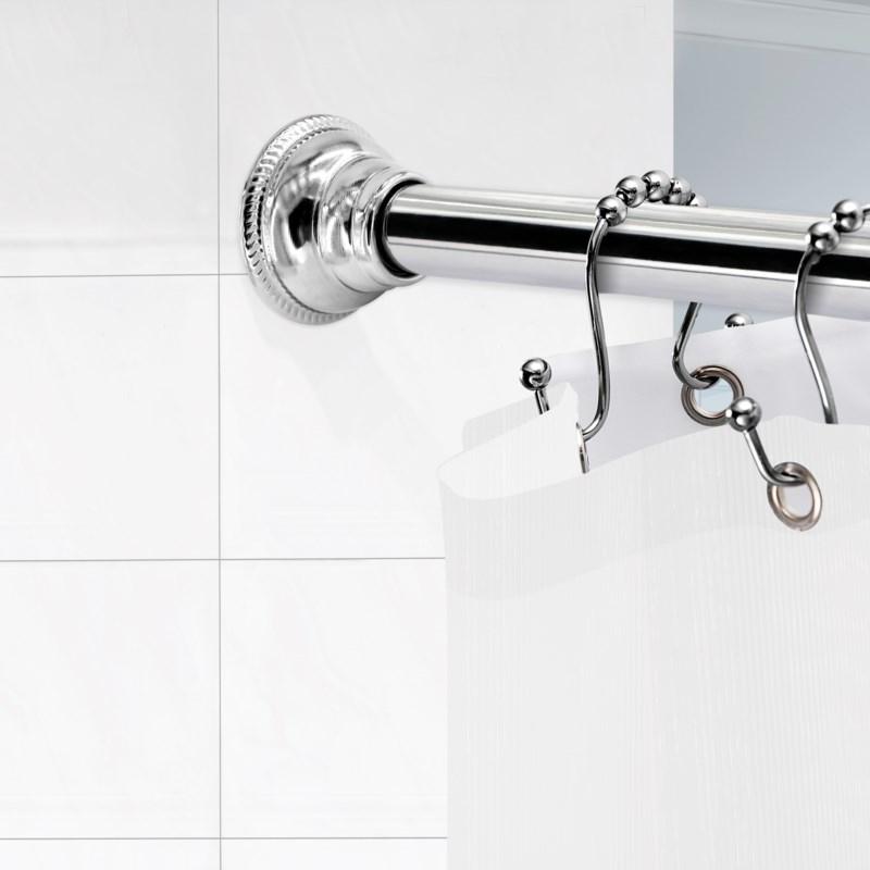 """Regent Shower Tension Rod 42""""-72"""" Brushed Nickel (6)"""