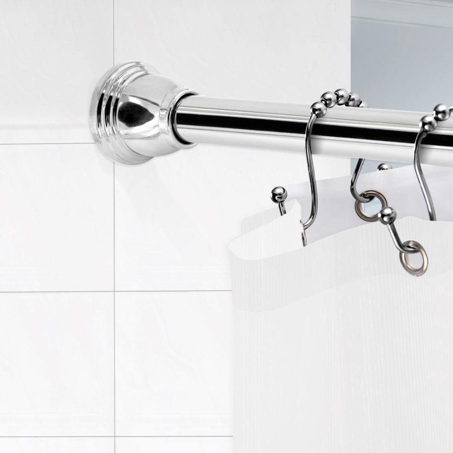 """Thistle Shower Tension Rod 42""""-72"""" Brushed Nickel (6)"""