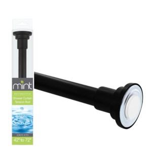Matte Black - Metal Shower Curtain Rod (6)