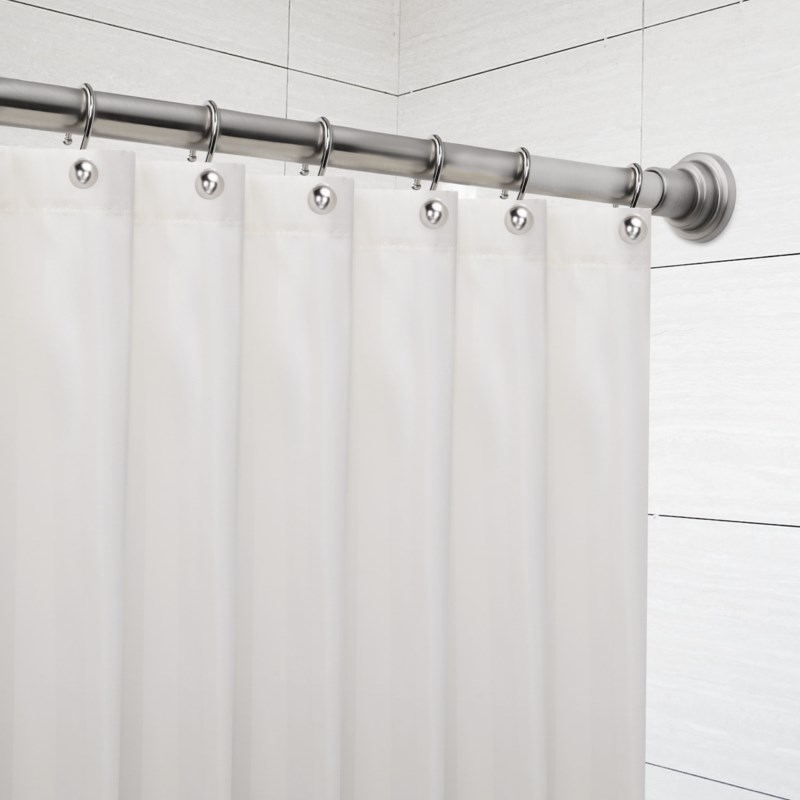 "Deco Shower Tension Rod 42""-72"" Brushed Nickel (6)"