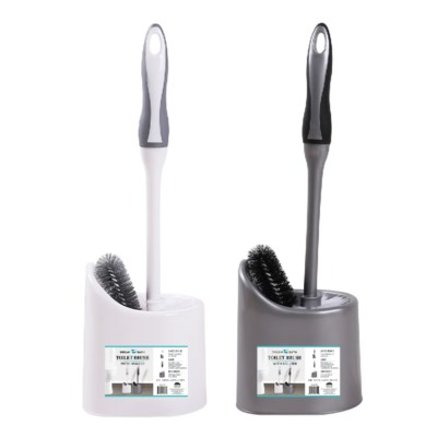 Toilet Bowl Brush with Caddy (12) 3 Colors Assorted