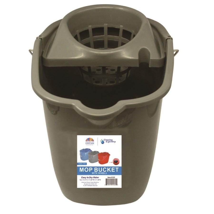 Plastic Mop Bucket ( 12 ) 3 Colors Assorted