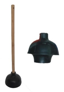 Heavy Duty Wooden handle Plunger W/ Double Layer ( 12 )