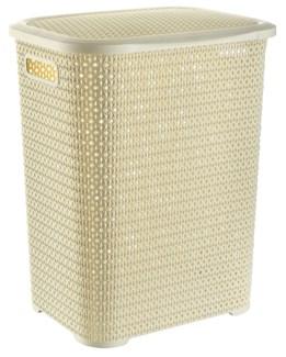 Knit Laundry Hamper Basket, 69 Liter, Beige (6)