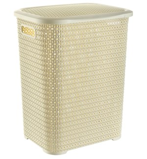 Knit Laundry Hamper Basket, 69 Liter, Beige (6)