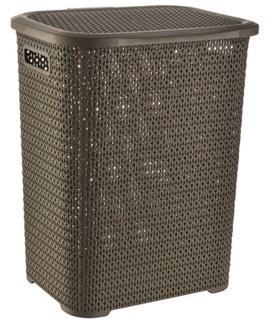 Knit Laundry Hamper Basket, 69 Liter, Chocolate (6)