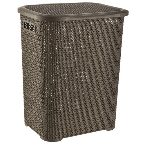 Knit Laundry Hamper Basket, 69 Liter, Chocolate (6)