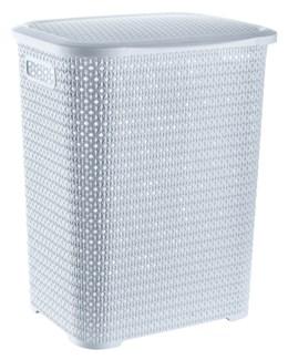 Knit Laundry Hamper Basket, 69 Liter, White (6)