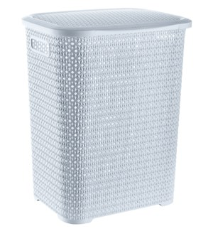 Knit Laundry Hamper Basket, 69 Liter, White (6)