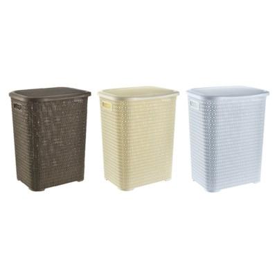 Knit Laundry Hamper Basket, 69 Liter, Assorted (6)