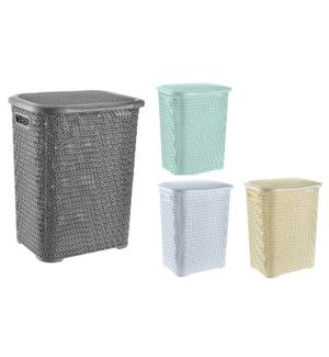Assorted - 69L Knit Design Laundry Hamper ( 6 )
