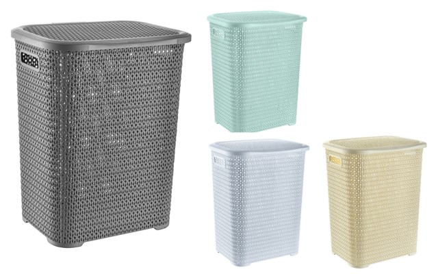 Assorted - 69L Knit Design Laundry Hamper ( 6 )