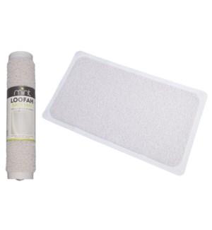 White - Loofah PVC Bathtub Mat (12)