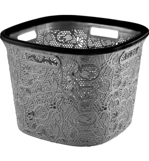 Grey - 36 Liter Lace Square Laundry Basket (6)
