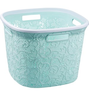 Mint - 36 Liter Lace Square Laundry Basket (6)