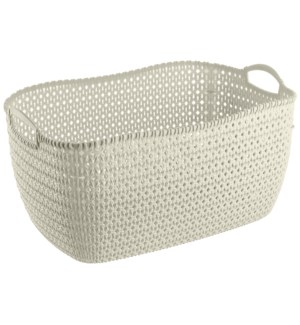 Beige - 32 Liter Knit Design Laundry Basket (6)