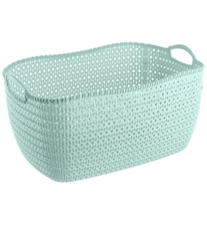 Mint - 32 Liter Knit Design Laundry Basket (6)