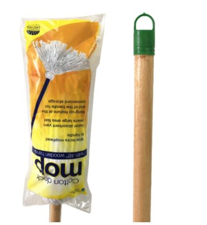 #20 Cotton Mop with Wood Handle(12)