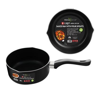 2.2Qt Sauce Pan W two lips ( 12 )