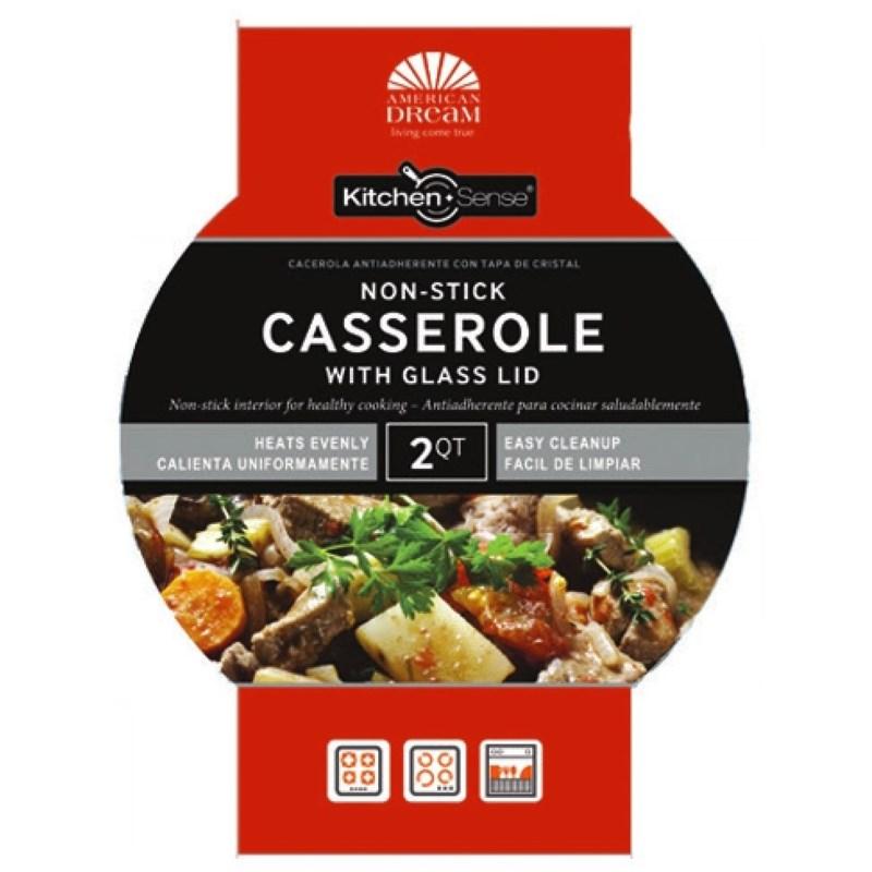 6.5Qt Casserole with Glass Lid ( 6 )