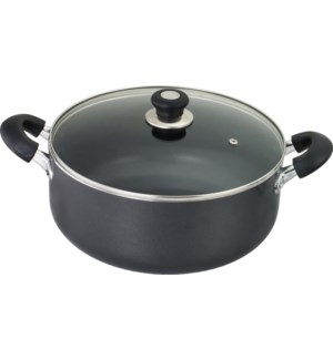 16Qt Non-Stick Sauce Pot w/ Glass Lid (2)