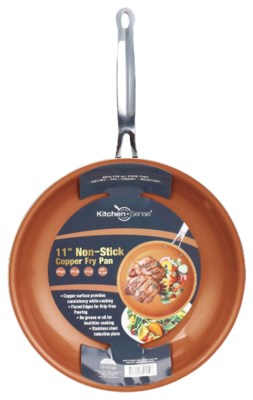 "11"" Copper Fry Pan with Wide Edge (6)"