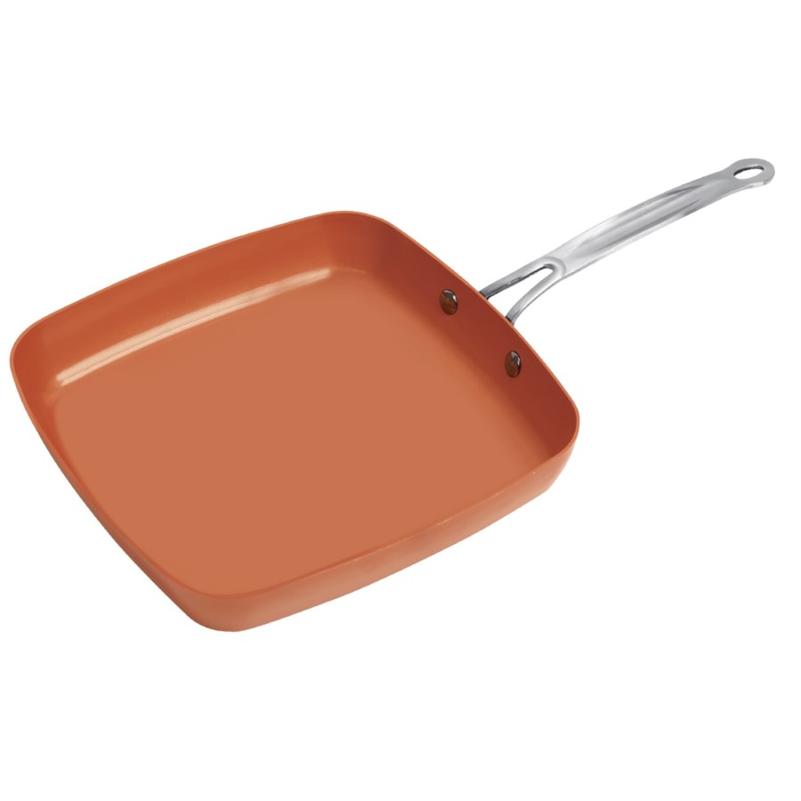 "9.5""  Copper Square Fry Pan (6)"