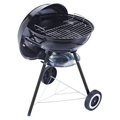 17-inch Round Charcoal Grill with lid and wheels (1)
