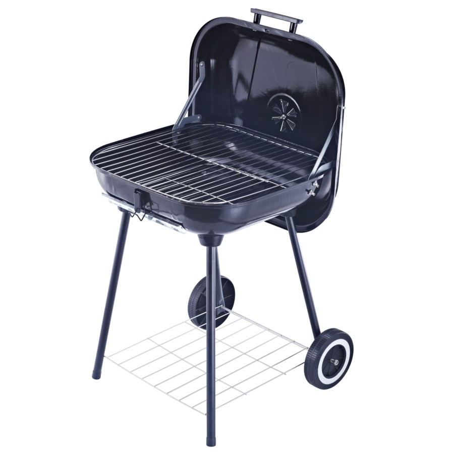 18-inch X 18-inch Charcoal Grill with Lid and wheels (1)