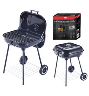 "18"" X 18"" Charcoal Grill with Lid and wheels (1)"