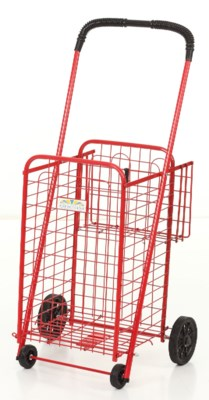 Red - Small Shopping Cart w/Basket(1)