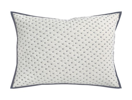 Addison-Dutch Euro-Sham-Natural w/ Charcoal Stitch