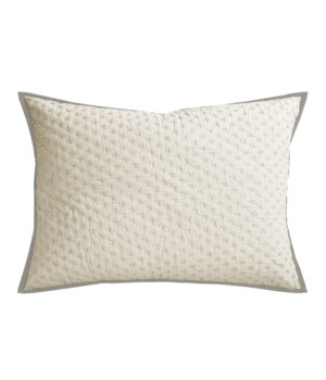 Addison-Dutch Euro-Sham-Natural w/ White Stitch